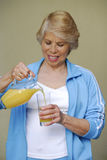 Woman juice. Stock Images