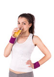 Woman juice sport Royalty Free Stock Images
