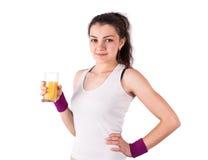 Woman juice sport Royalty Free Stock Photo