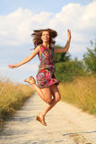 Woman in jump Royalty Free Stock Photography