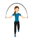 Woman jump rope isolated icon design Stock Images