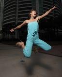 Woman jumping Stock Image