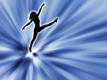 Woman jumping. Illustration and movement with this woman jumping royalty free illustration