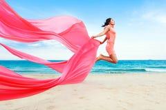 Woman jumping royalty free stock image