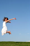 Woman jumping Royalty Free Stock Photos