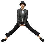 Woman jumping up Stock Photos