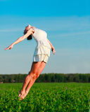 Woman jumps Royalty Free Stock Images