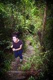 Woman Jungle Hiker Stock Image