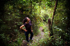 Woman Jungle Hiker Royalty Free Stock Images
