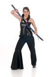 Woman Katana sword. Stock Image