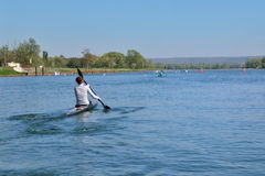 Woman in a kayak Royalty Free Stock Photo