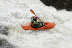 Woman kayaking in river Royalty Free Stock Image