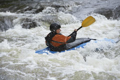Woman kayaking in river Royalty Free Stock Photo