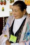 Woman from Kazakhstan. International Folk Art Market held annually in Santa Fe, New Mexico,  USA, woman from Kazakhstan Stock Photography