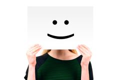 Woman Keeping A Paper With Smiling Face Royalty Free Stock Photo