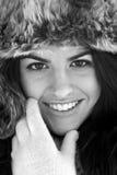 Woman keeping warm. Stock Photography