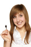 Woman with keys at home Royalty Free Stock Photo