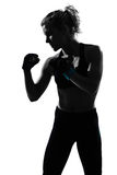 Woman kickboxing posture boxer boxing Stock Photo