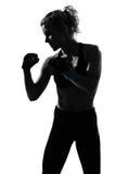 Woman kickboxing posture boxer boxing Stock Photo