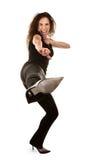 Woman kicking Royalty Free Stock Photos