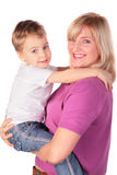 Woman with kid posing Royalty Free Stock Images