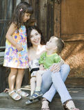 Woman and kids Royalty Free Stock Photos