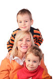 Woman with kids Royalty Free Stock Photography