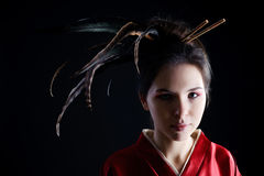 Woman in kimono Royalty Free Stock Photography