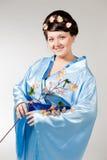 Woman in kimono Stock Photos