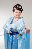 Woman in kimono Royalty Free Stock Photos