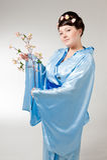 Woman in kimono Stock Image