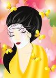 Woman in a kimono Stock Photography