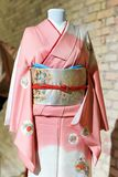 Woman Kimono costume on mannequin. Traditional Japanese Maiko dress. Geisha clothing. Woman Kimono costume on mannequin. Traditional Japanese Maiko dress Stock Photography