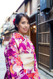 Woman with kimono Royalty Free Stock Photography