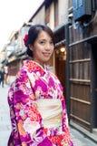 Woman with kimono Royalty Free Stock Photography