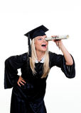 Woman kis looking for a job Stock Images