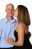Woman Kissing Man Royalty Free Stock Image