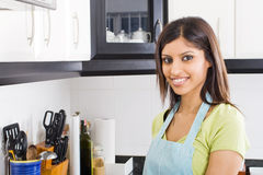 Woman in kitchen Royalty Free Stock Images