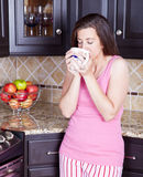 Woman in kitchen Royalty Free Stock Photography