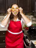 Woman in the kitchen Royalty Free Stock Images