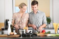 Woman, Kitchen, Man, Everyday Life Royalty Free Stock Photo
