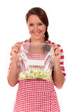 Woman kitchen vegetables Royalty Free Stock Photography