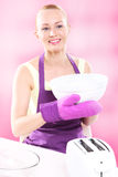 Woman in the kitchen. Royalty Free Stock Images