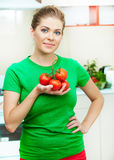 Woman at kitchen Stock Photography