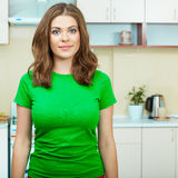 Woman in kitchen Royalty Free Stock Photo