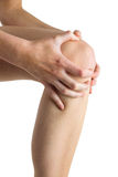 Woman with knee injury Royalty Free Stock Photos