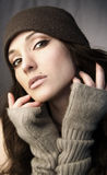 Woman in knit Royalty Free Stock Photo
