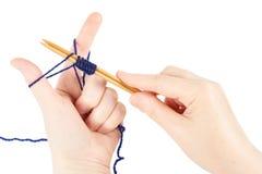 Woman knits Stock Image
