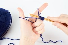 Woman knits Stock Photography