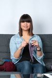 Woman knits Royalty Free Stock Images